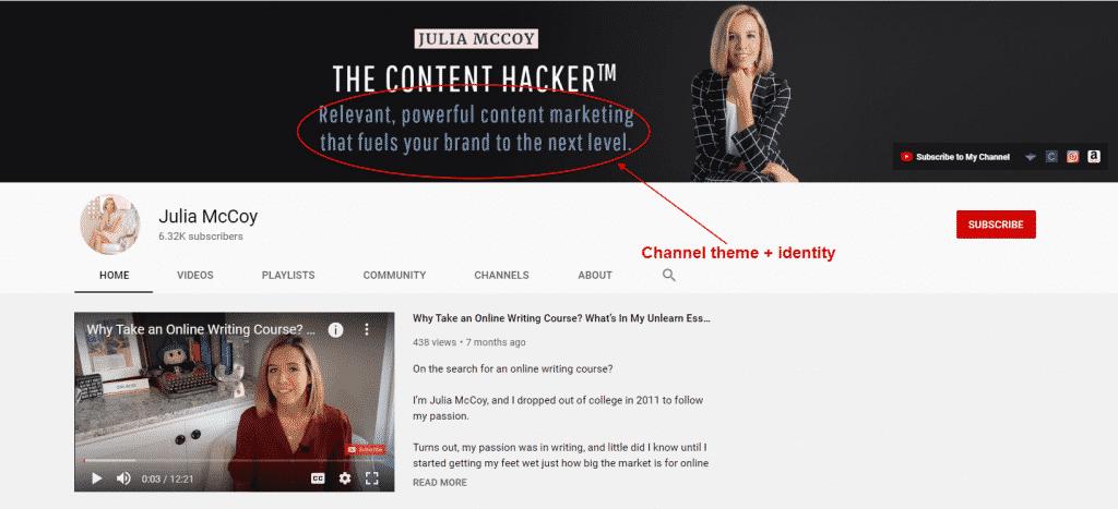 julia mccoy youtube channel