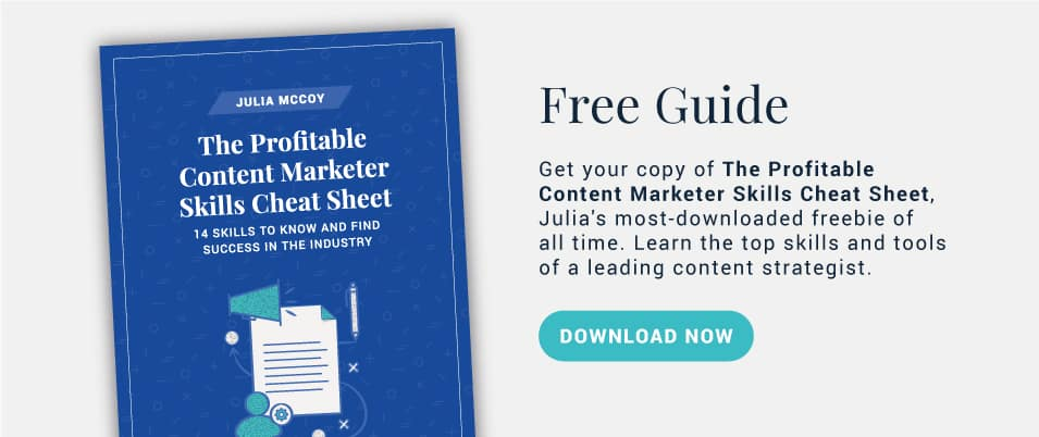 Get the Profitable Content Marketer Skills Cheat Sheet