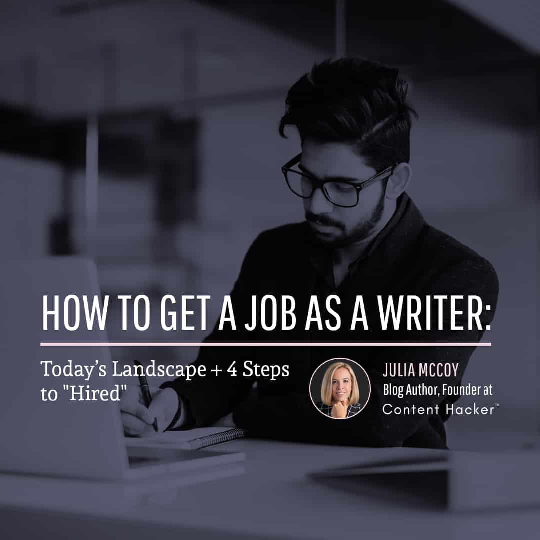 how to get a job as a writer