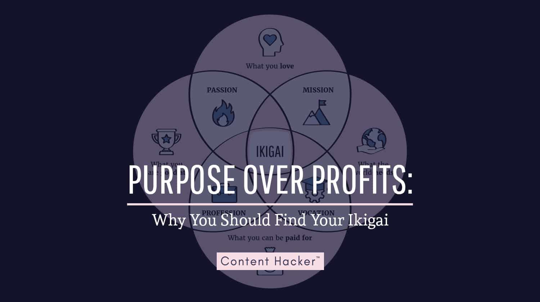 ikigai - purpose over profits