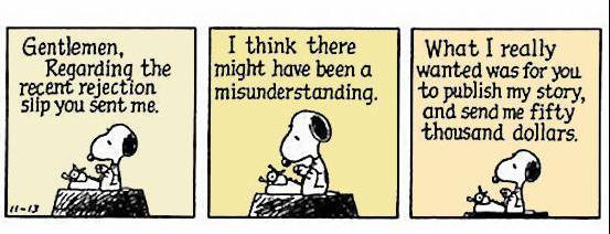 snoopy the writer