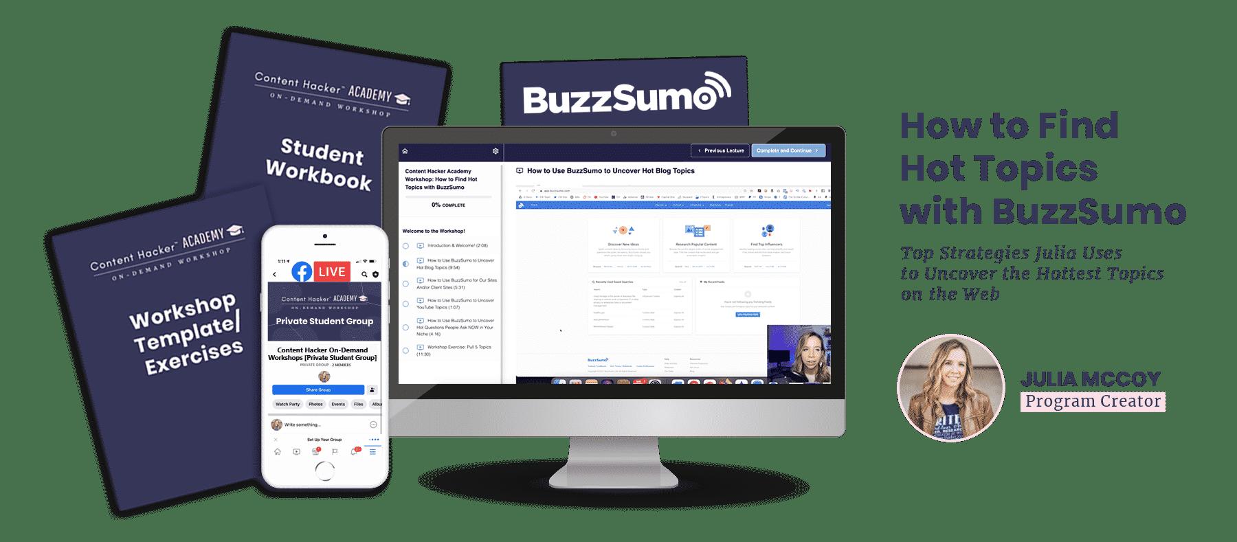 hot topics with buzzsumo