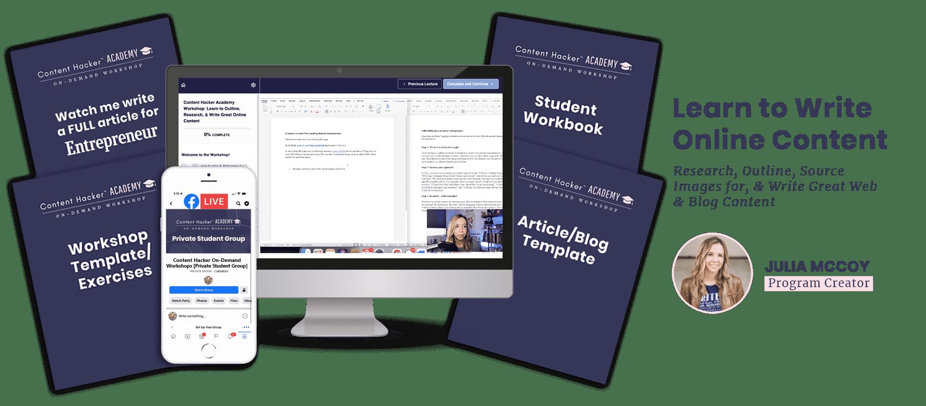 learn to write workshop