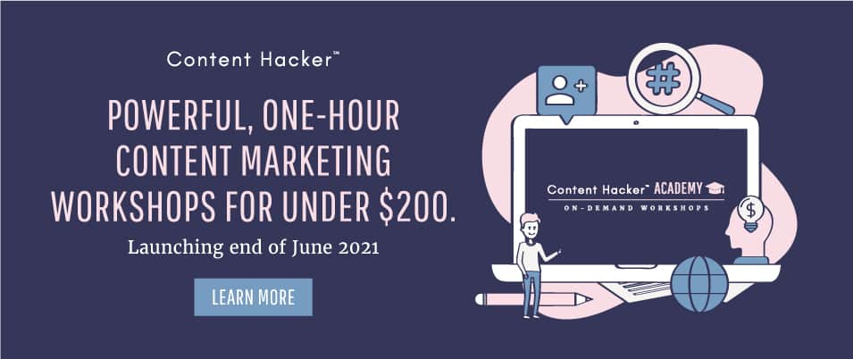 one hour content marketing workshop