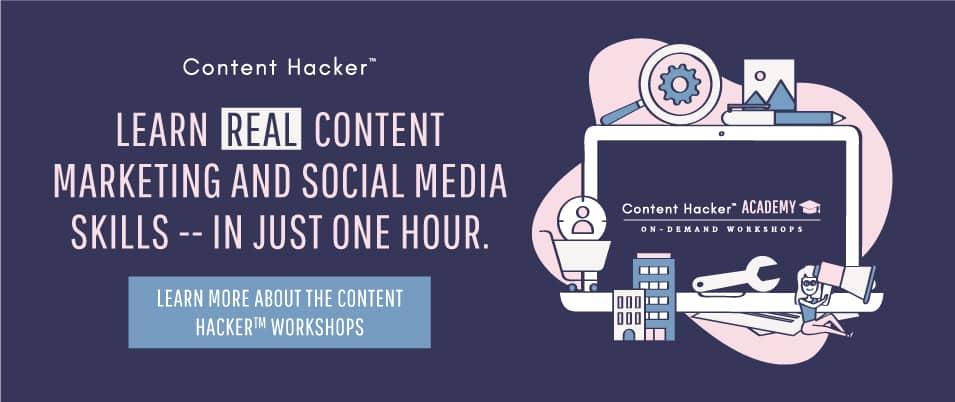 content marketing and social media workshop CTA
