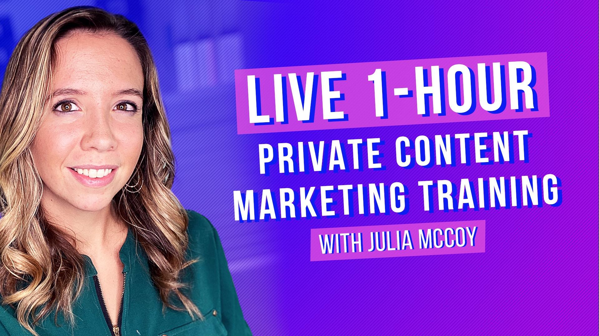 live content marketing training