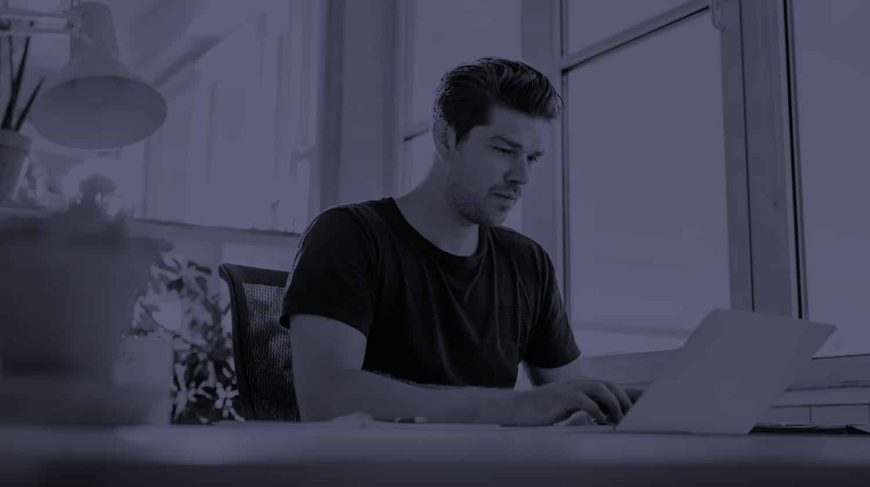 a man using content marketing tools