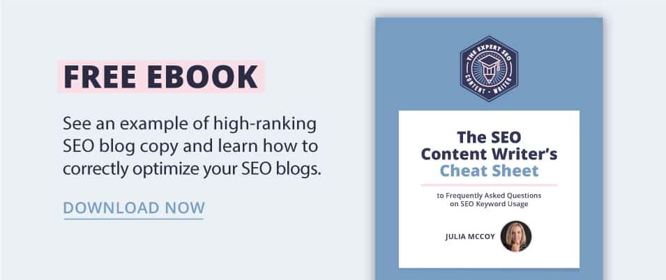 SEO Content Writer Cheat Sheet