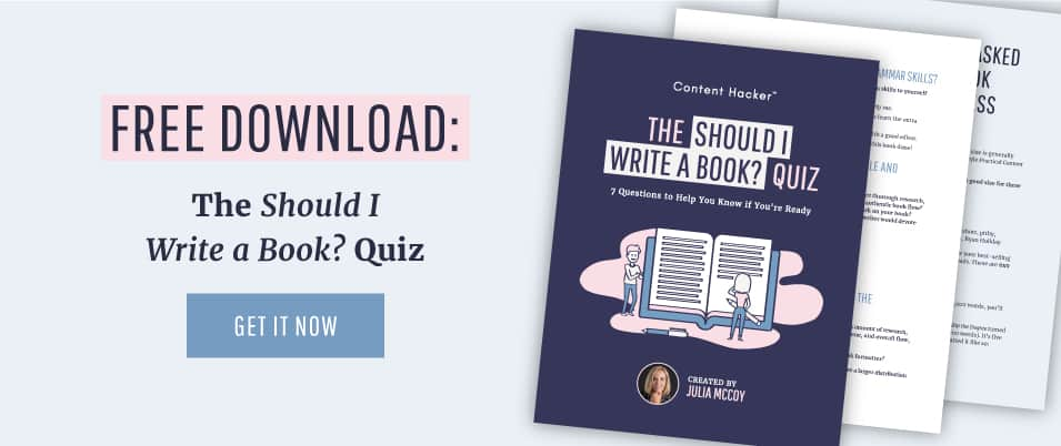 should you write a book quiz