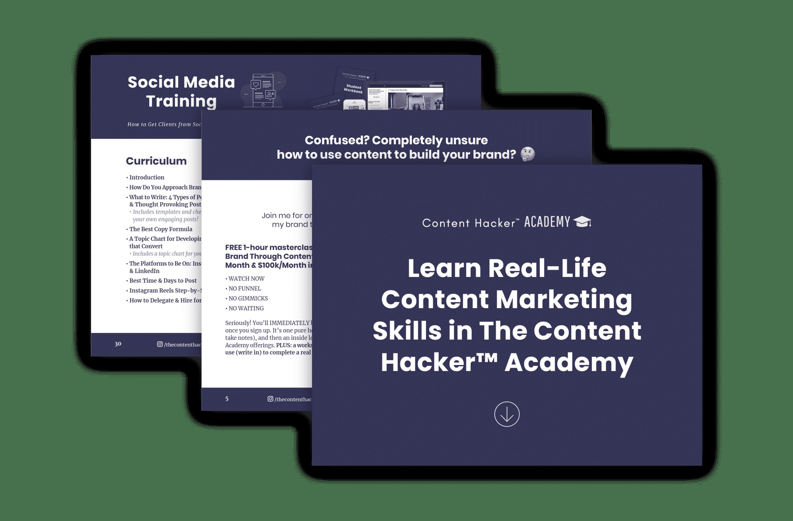 content hacker courses