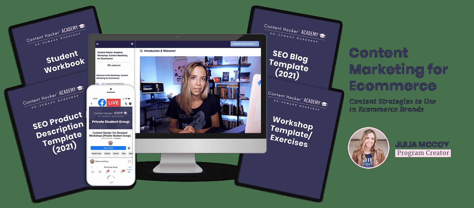 content marketing for ecommerce workshop