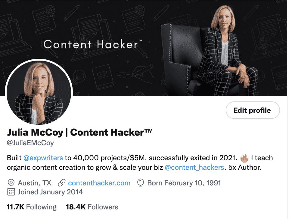 julia mccoy content marketer