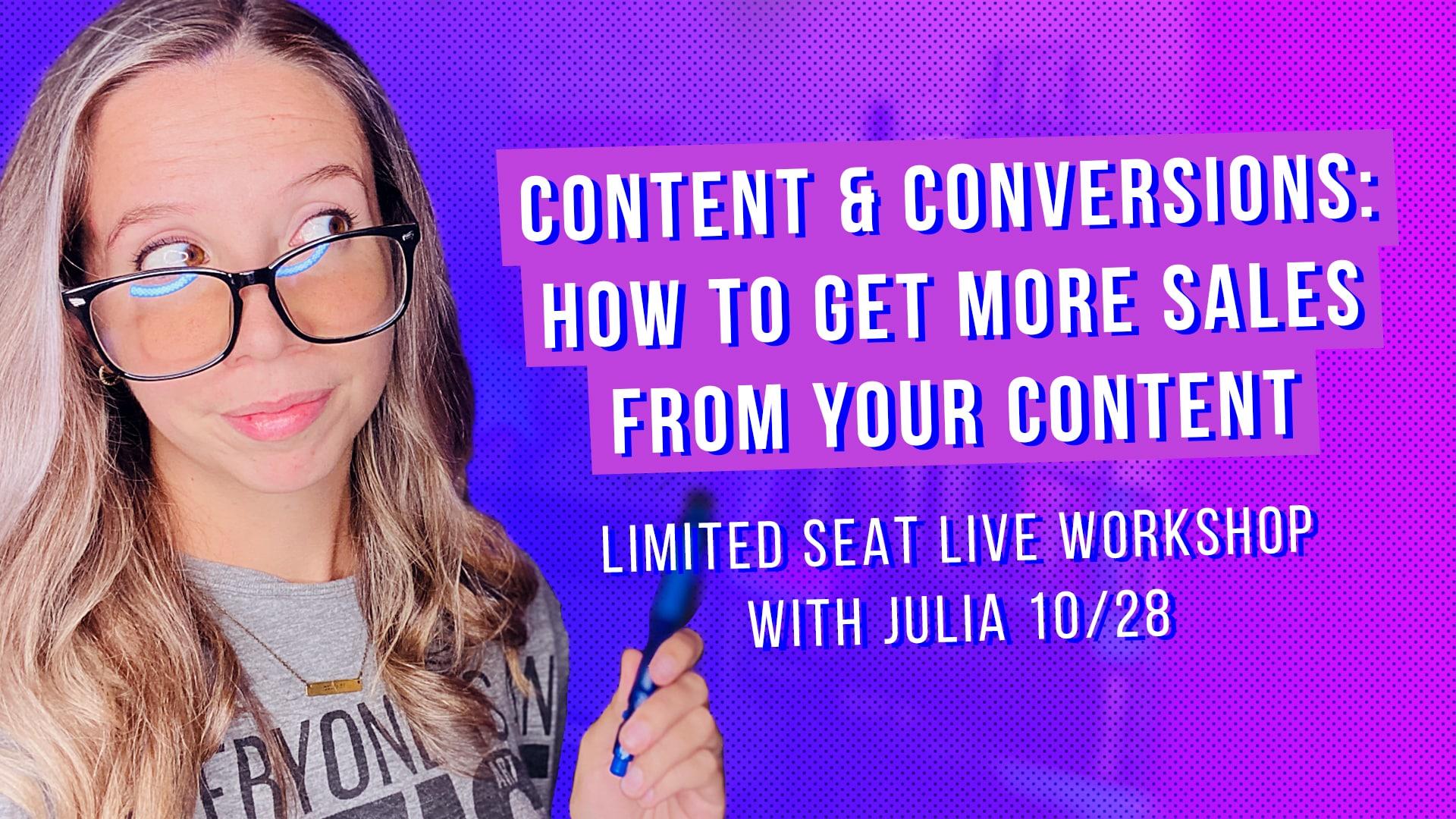 live content marketing workshop