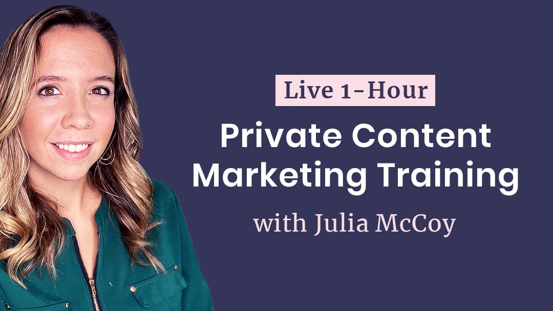 live training with Julia